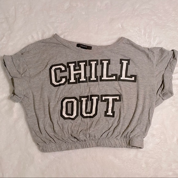 """Chill Out"" 90's Crop Top"